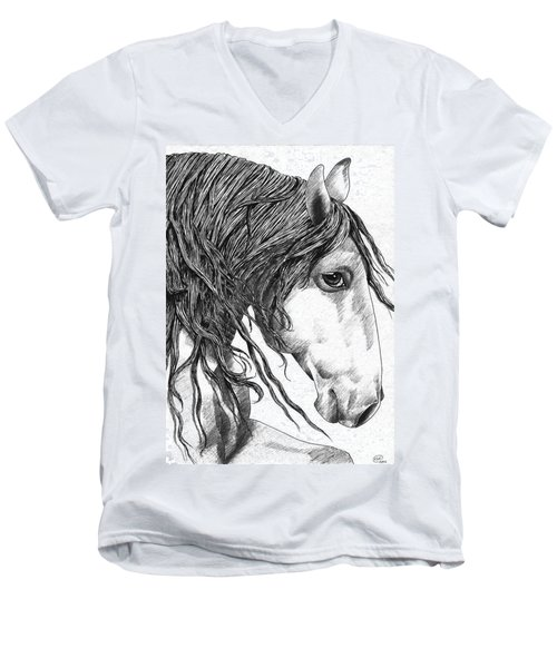 Andalusian Horse Men's V-Neck T-Shirt