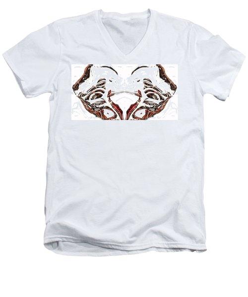 Men's V-Neck T-Shirt featuring the digital art Androidinous by Richard Thomas