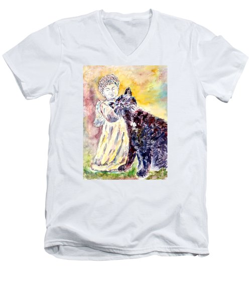 Angel Or Demon Men's V-Neck T-Shirt by Alfred Motzer
