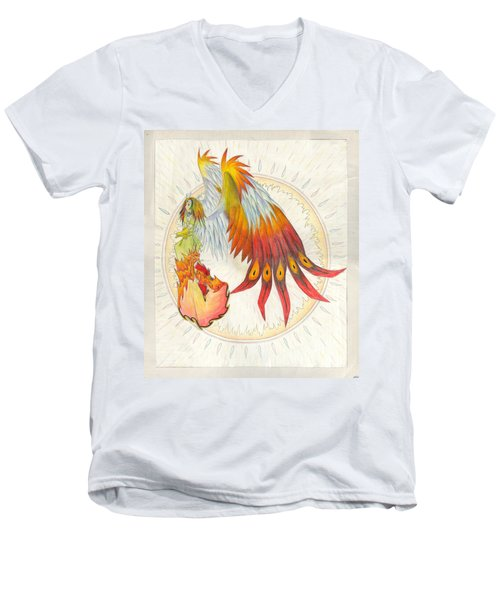 Angel Phoenix Men's V-Neck T-Shirt