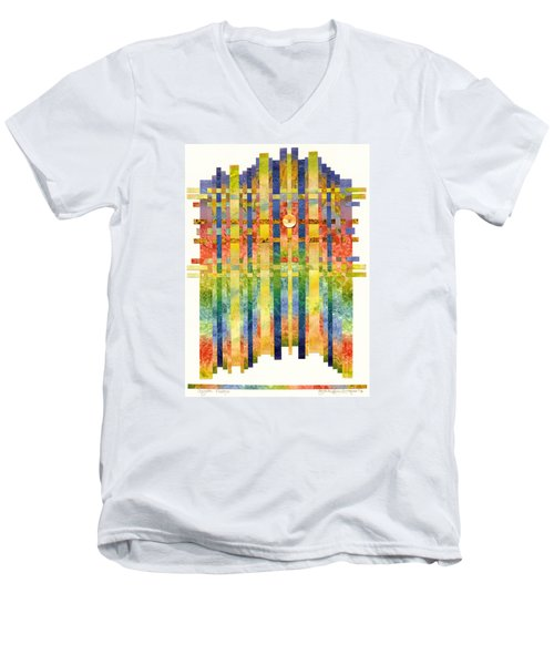 Angelic Visions Men's V-Neck T-Shirt by Lynda Hoffman-Snodgrass