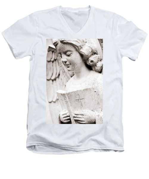Angels Prayers And Miracles Men's V-Neck T-Shirt