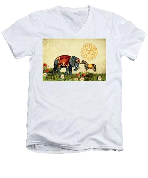 Animal Love Men's V-Neck T-Shirt