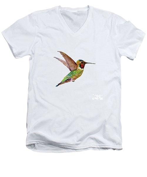 Anna Hummingbird Men's V-Neck T-Shirt