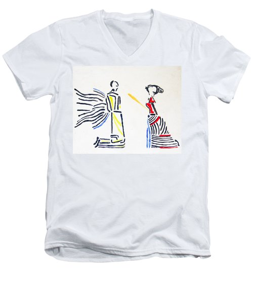 Annunciation Men's V-Neck T-Shirt