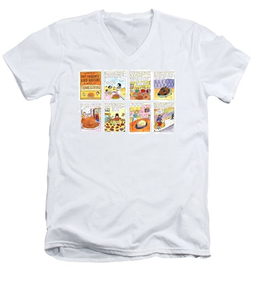 Answers To The Most Frequently Asked Questions Men's V-Neck T-Shirt