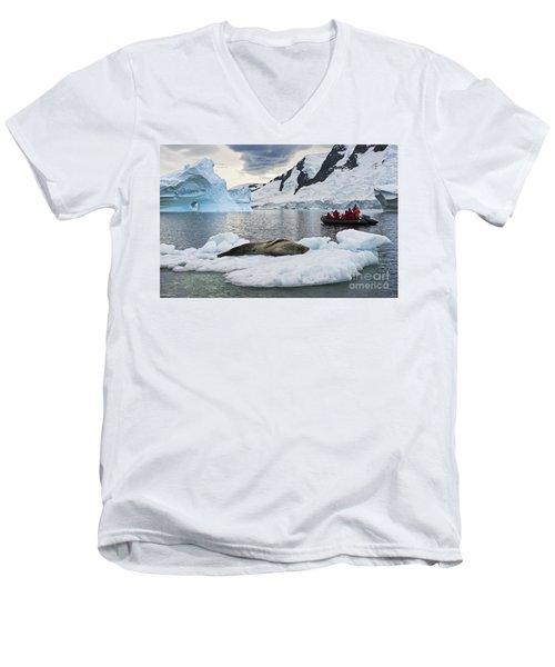 Antarctic Serenity... Men's V-Neck T-Shirt