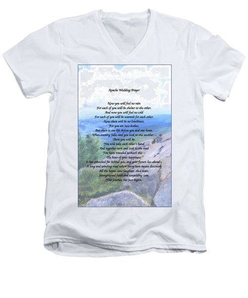 Apache Wedding Prayer Men's V-Neck T-Shirt