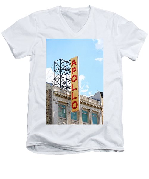 Apollo Theater Sign Men's V-Neck T-Shirt by Valentino Visentini