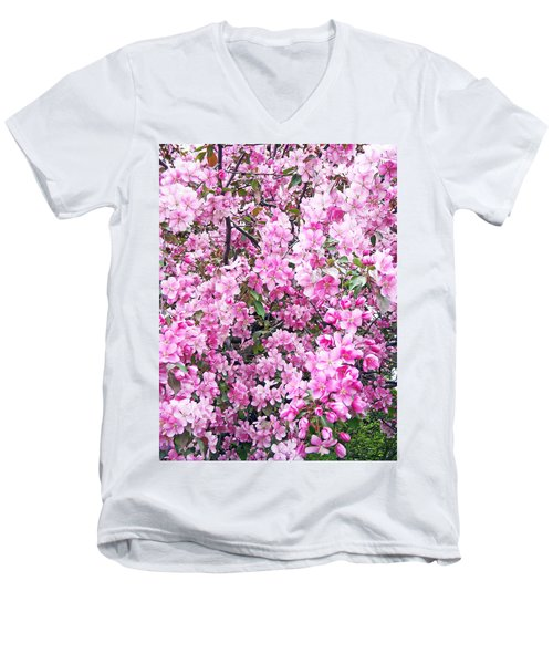 Apple Blossoms Men's V-Neck T-Shirt by Aimee L Maher Photography and Art Visit ALMGallerydotcom