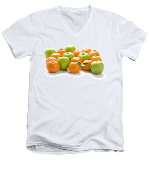 Men's V-Neck T-Shirt featuring the photograph Apples And Oranges by Lee Avison