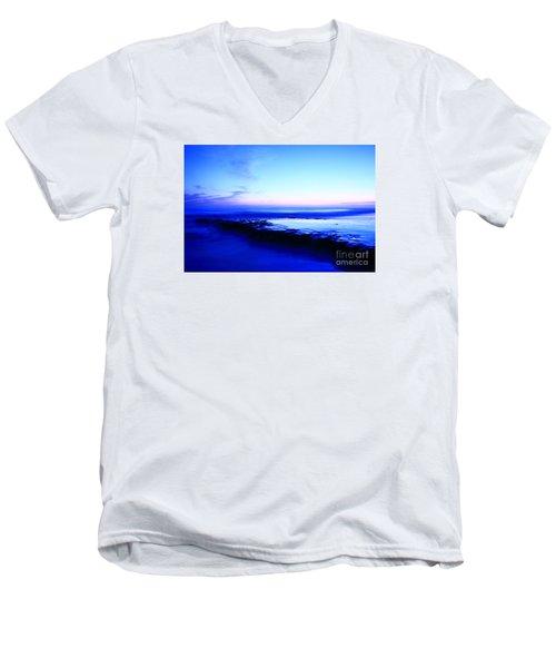 Men's V-Neck T-Shirt featuring the photograph Swamis Aqua Reef  by John F Tsumas