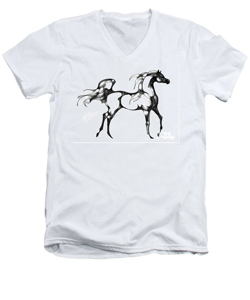 Arabian Horse Overlook Men's V-Neck T-Shirt