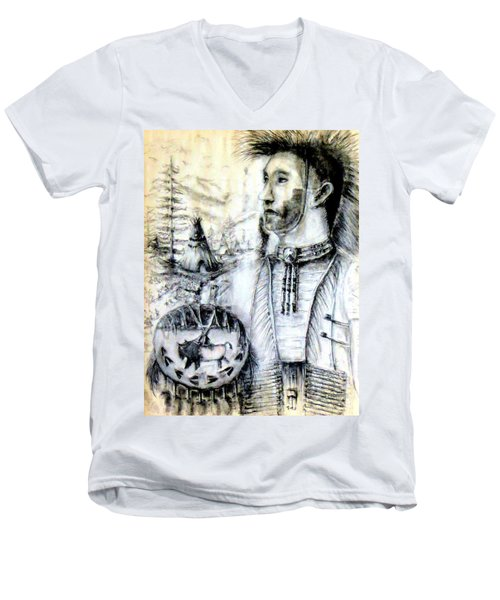 Arapaho Cheyenne Men's V-Neck T-Shirt by Bernadette Krupa