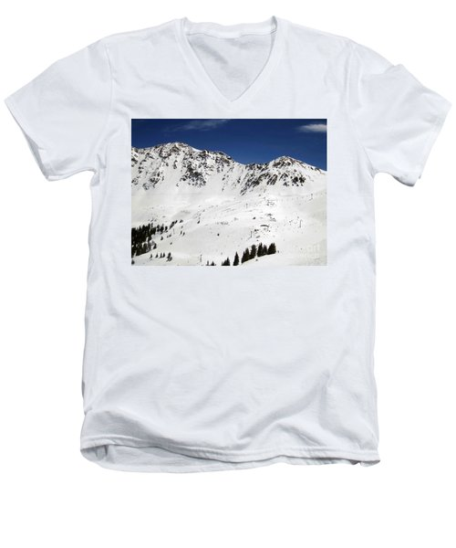Arapahoe Basin Ski Resort - Colorado          Men's V-Neck T-Shirt