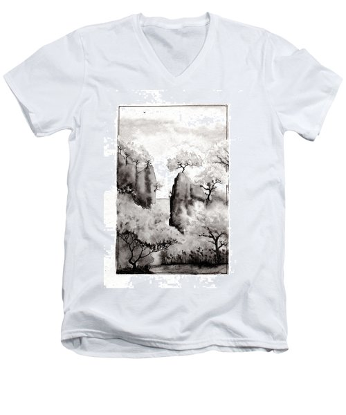 Arbres Separes Men's V-Neck T-Shirt by Marc Philippe Joly