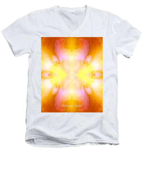 Archangel Jophiel Men's V-Neck T-Shirt by Diana Haronis