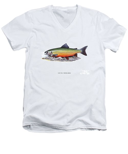 Arctic Char Male Men's V-Neck T-Shirt
