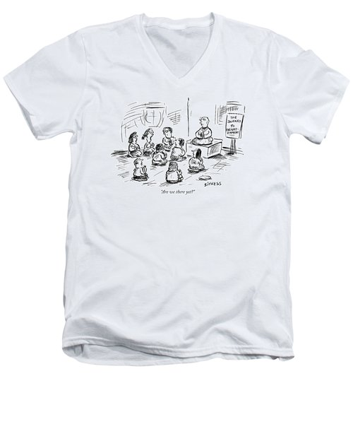 Are We There Yet? Men's V-Neck T-Shirt