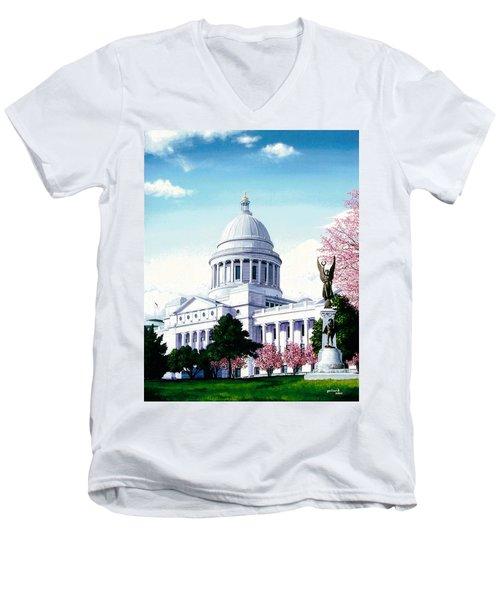 Arkansas Capitol Blossoms Men's V-Neck T-Shirt