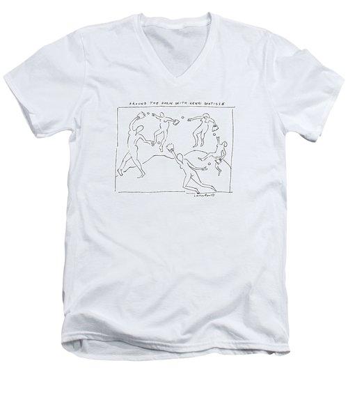 Around The Horn With Matisse: Matisse's Dancers Men's V-Neck T-Shirt