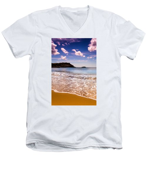 Around The Sea Men's V-Neck T-Shirt by Edgar Laureano