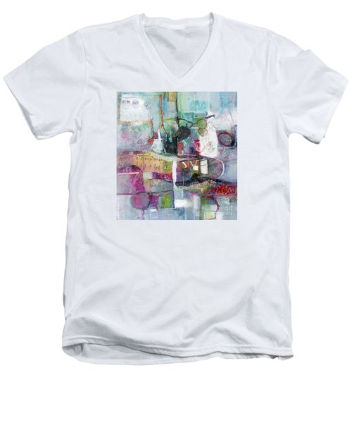 Art And Music Men's V-Neck T-Shirt by Michelle Abrams