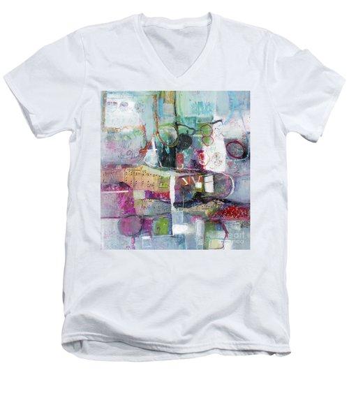 Art And Music Men's V-Neck T-Shirt