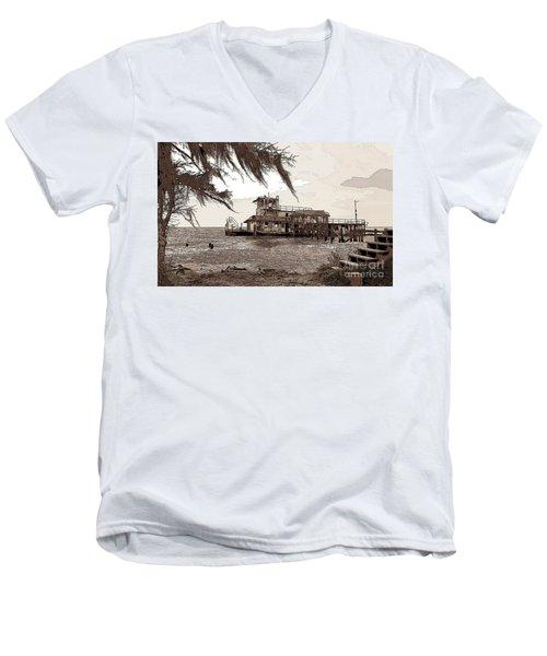 Men's V-Neck T-Shirt featuring the photograph Tugboat From Louisiana Katrina by Luana K Perez