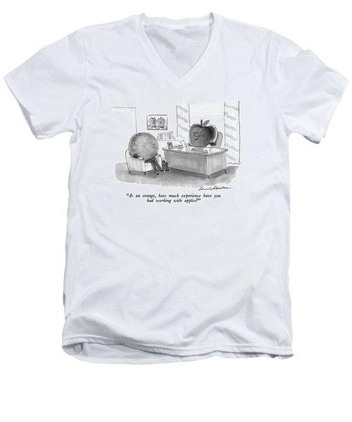 As An Orange Men's V-Neck T-Shirt