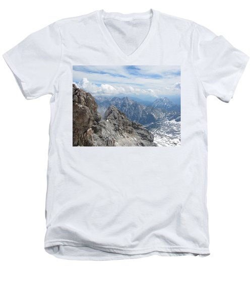 Men's V-Neck T-Shirt featuring the photograph As The Crow Flies by Pema Hou