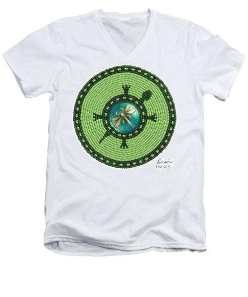 Ashlee's Dragonfly Turtle Men's V-Neck T-Shirt