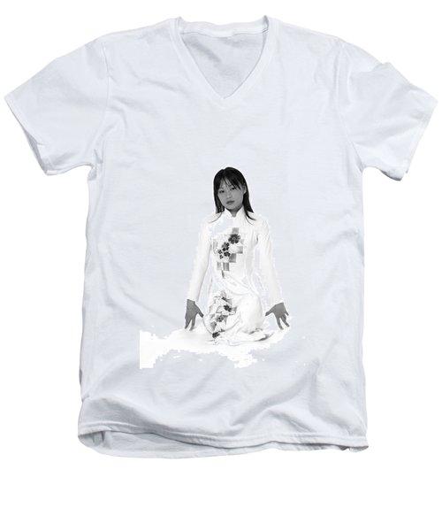 Asian Girl Men's V-Neck T-Shirt