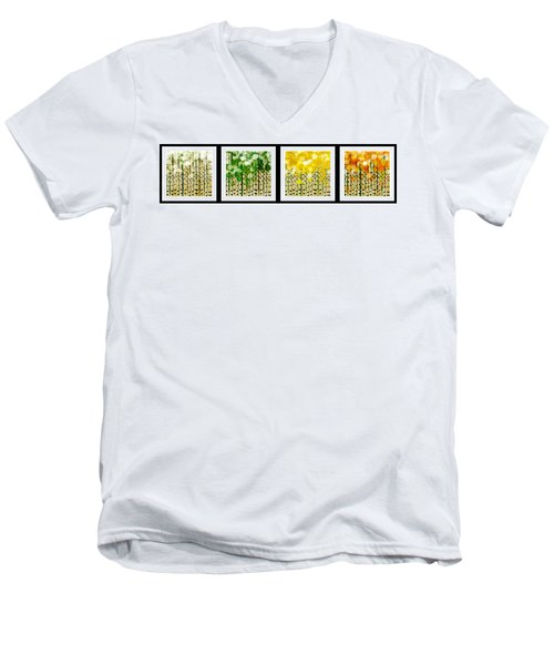 Aspen Colorado Abstract Horizontal 4 In 1 Collection Men's V-Neck T-Shirt