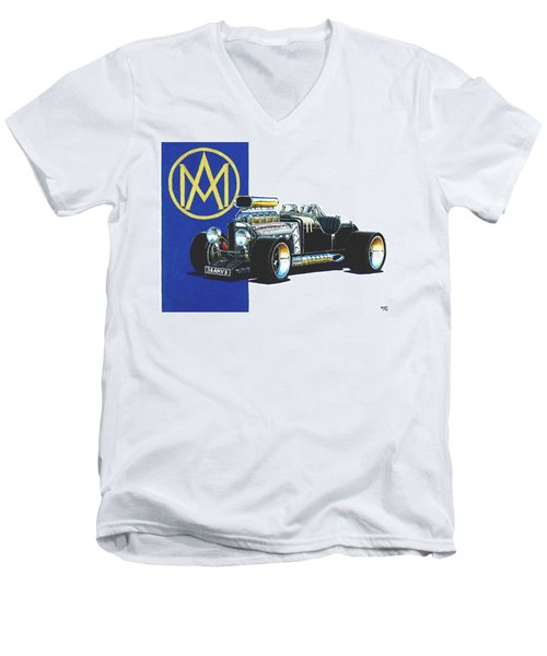 Aston Martin Hot Rod Men's V-Neck T-Shirt