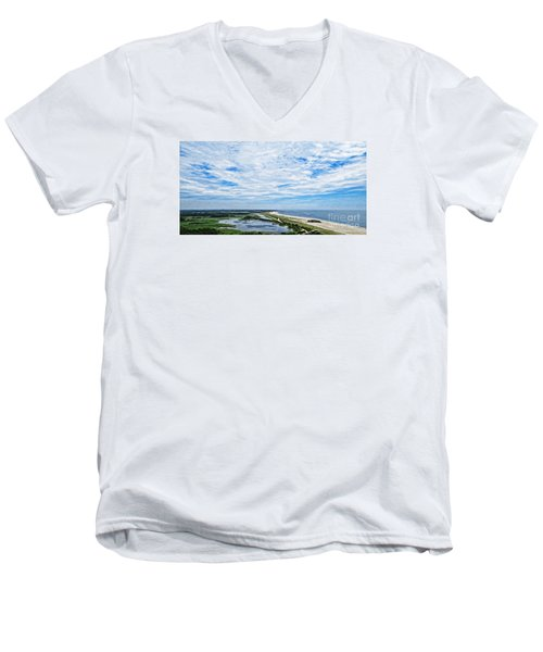 At The Top Of The Lighthouse Men's V-Neck T-Shirt