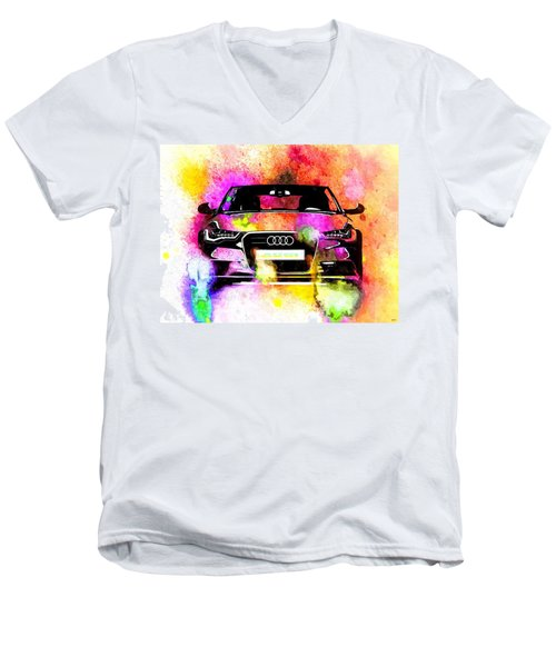 Audi A6 Avant Watercolor Men's V-Neck T-Shirt
