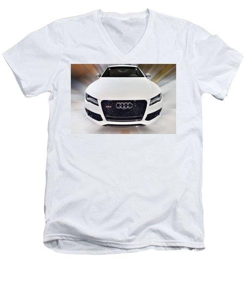 Audi  R S 7 Quattro 2014 Men's V-Neck T-Shirt