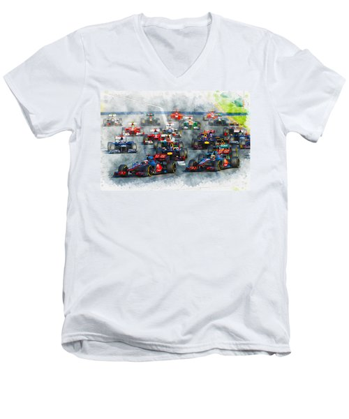 Australian Grand Prix F1 2012 Men's V-Neck T-Shirt