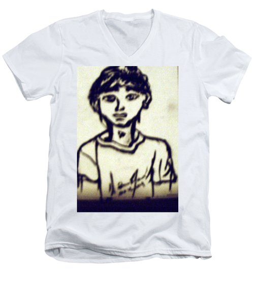 Autographed Drawing Men's V-Neck T-Shirt