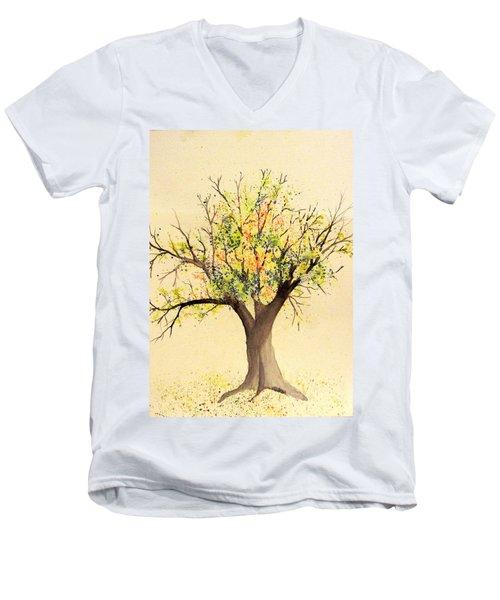 Autumn Backyard Tree Men's V-Neck T-Shirt