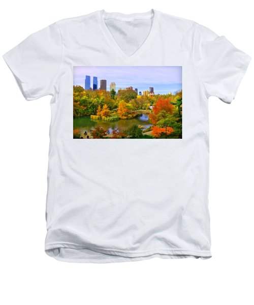 Autumn In Central Park 4 Men's V-Neck T-Shirt