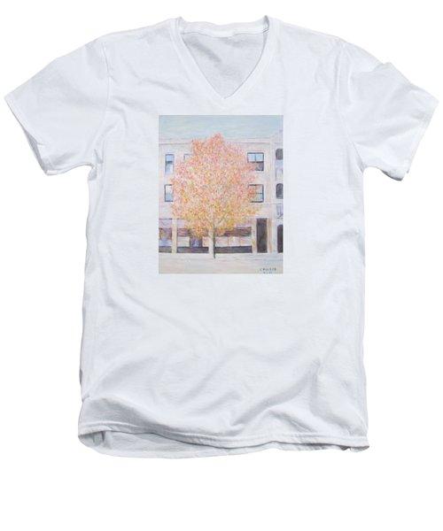 Autumn In Chicago Men's V-Neck T-Shirt