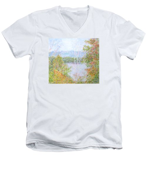 Autumn By The Lake In New Hampshire Men's V-Neck T-Shirt