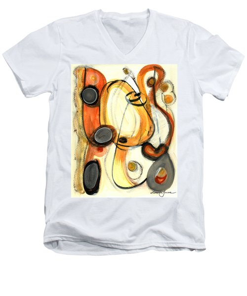 Men's V-Neck T-Shirt featuring the painting Autumn Winds by Stephen Lucas