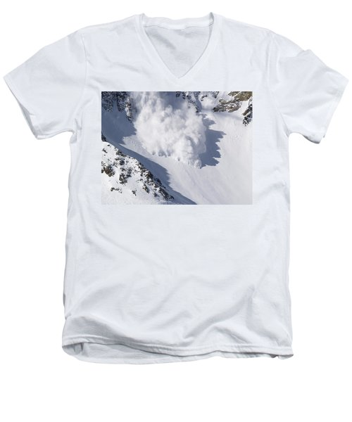 Avalanche IIi Men's V-Neck T-Shirt by Bill Gallagher