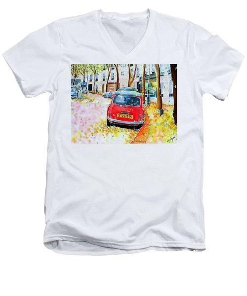 Avenue Junot In Autumn Men's V-Neck T-Shirt