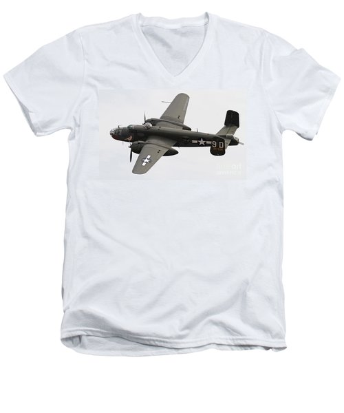 B-25 Mitchell Bomber Aircraft Men's V-Neck T-Shirt
