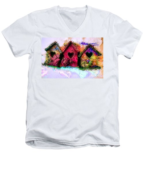 Baby Birdhouses Men's V-Neck T-Shirt