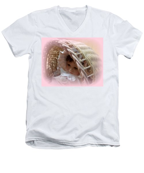 Baby In Pink Men's V-Neck T-Shirt